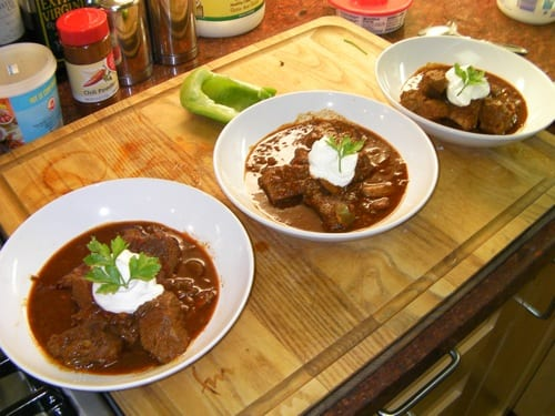 Chili for three