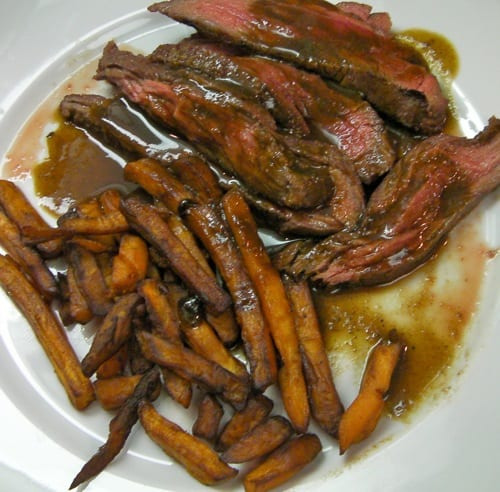 Bavette and Sweet Potato Fries