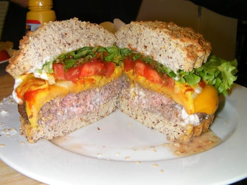 Juicy Grassfed Burger with Cheddar