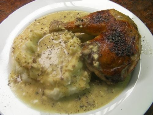 Chicken Mashed Potatoes Giblet Gravy