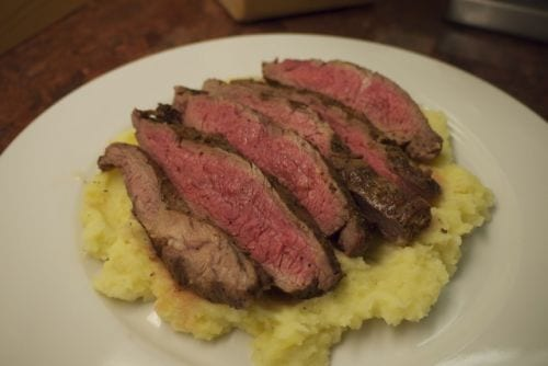 Flank Steak Mashed Potato