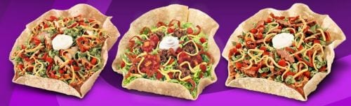 Taco Salads from Taco Bell