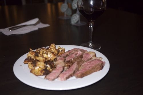 Ribeye and Roasted Cauliflower