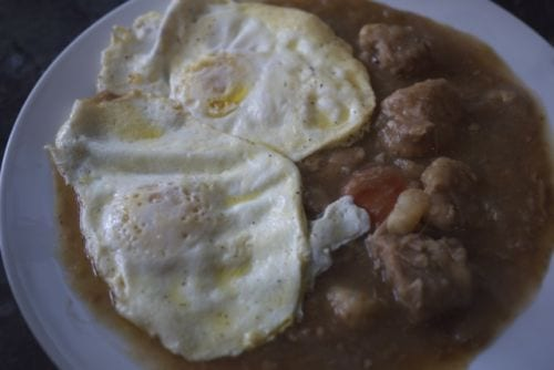 Pork Stew Eggs