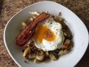 A Completely Saner Bacon, Egg, and Fried Potato Breakfast Picture