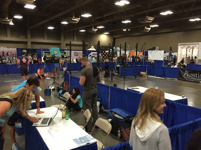 Lots of space for the hands-on fitness oriented exhibitors.